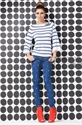 Immagine di art. 6195 jeans stretch a pois