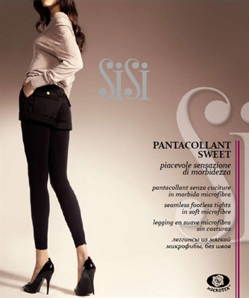 art. Y156SI PANTACOLLANT / LEGGINGS SWEET Coprente Microfibra 200 den の画像
