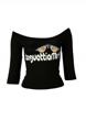 圖片 maglietta DENNY ROSE 45DR62021 T-SHIRT MANICA 3/4 colore NERO - SOTTOCOSTO SOLO €. 10,99