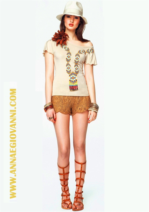 art. 46DR22010 SHORTS IN PIZZO の画像