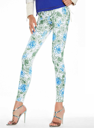 art. Y323SI LEGGINGS / JEGGINGS FLORAL PRINT Fantasia Floreale の画像