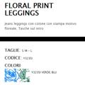 圖片 art. Y323SI LEGGINGS / JEGGINGS FLORAL PRINT Fantasia Floreale
