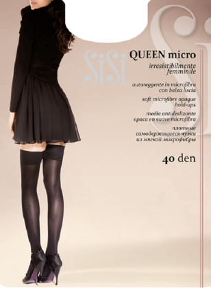 art. 97SI Collant Queen MICRO 40 (autoreggente) の画像