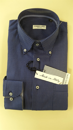 Camicia uomo Confort Fit Button Down art.9 FREE MAN (100% made in Italy) の画像