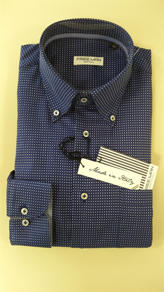 圖片 Camicia uomo Confort Fit Button Down art.9 FREE MAN (100% made in Italy)