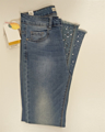 Immagine di Jeans Stretch Slim Fit con strass GHIACCIO E LIMONE art. F332