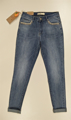Immagine di Jeans Stretch Push Up Slim Fit con perle e strass GHIACCIO E LIMONE art. F5141