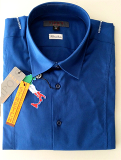 Immagine di Camicia TIPO'S Slim Fit & Stretch e Calibrata Oversize COLORE BLUETTE