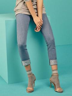 圖片 Sisi art. Y585SI Jeans / Legging RISVOLTO SISI PE 2019 COLORE JEANS CHIARO