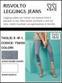 圖片 Sisi art. Y585SI Jeans / Legging RISVOLTO SISI PE 2019